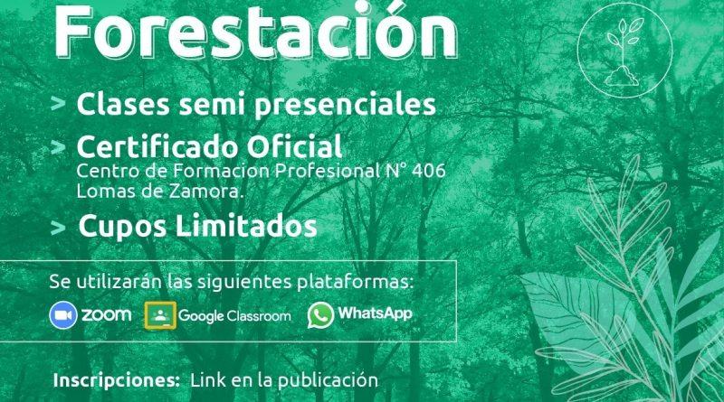COMIENZA EL CICLO LECTIVO 2021 PARA EL CURSO DE FORESTACIÓN.