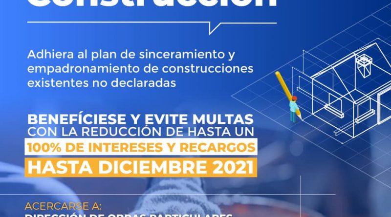 San Vicente: INFORMACIÓN IMPORTANTE  ACÉRCATE A LA DIRECCIÓN DE OBRAS PARTICULARES UBICADA EN EL 2DO PISO DEL PALACIO MUNICIPAL PARA REALIZAR EL TRÁMITE.