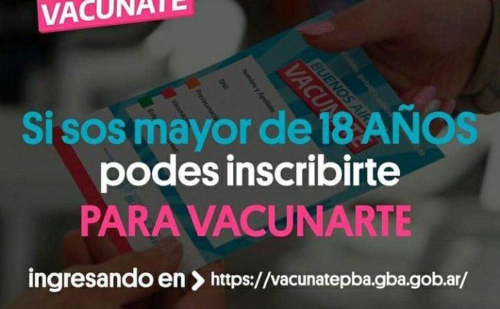 #SanVicenteMunicipio    ¿SOS MAYOR DE 18 AÑOS Y QUERÉS VACUNARTE? YA PODÉS INSCRIBIRTE EN #VACUNATEPBA
