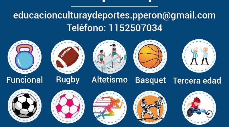 Pte Peron : AGENDA DE TALLERES DEPORTIVOS 2021